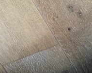 "Engineered Euro Oak Antique Brushed Rain 3/5 ""x 7 1/2"" (4mm top layer) Sale $4.69"