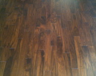 Solid Hard Acacia Small Leaf 3/4″ x 5″ HS Walnut Sale $4.99 per sq. ft.