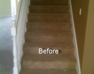 Stairs BEFORE Engineered Red Oak installation