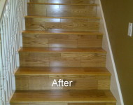 Stairs after installing Engineered Red Oak