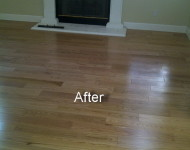 AFTER installing Engineered Red Oak 9/16″ x 5″