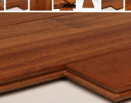 Made in Brazil – up to 6′ Grade A Solid Jatoba Brazilian Cherry 3/4″ x 5″ Janka Hardness 2820 (twice of Maple) $5.49