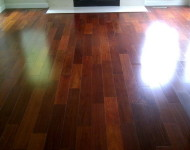 Nailed down Santos Mahogany Living room