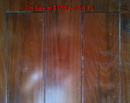Solid Pine Dark Walnut Hardwood on Sale at $1.99 per Sq. Ft. 3/4″ x 3 1/2″