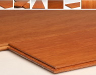 Solid Kempas Natural, Made in Indonesia 3/4″ x 3 3/16″ sale $3.25/sq. ft.