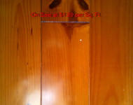 Solid Pine Cherry Hardwood on Sale at $ 1.89 per Sq. Ft. 1/2″ x 5″