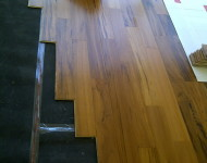 Engineered Tigerwood Hardwood with floating application