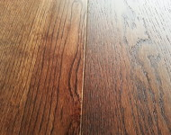 Engineered White Oak Wire Brushed Wide Planks Smoked Tobacco Sale $3.99 – 1/2″ x 6″