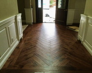 Huy Hoang's Chevron floor completed! Absolutely beautiful.